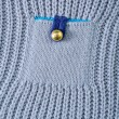 Cardigan pocket with button — Stock Photo