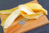 Banana on a board — Stock Photo