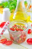 Salsa on a table — Stock Photo