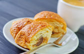 Croissant and coffee — Stock Photo