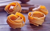 Raw pasta — Stock Photo