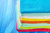 Colored towels — Stock Photo