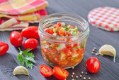 Salsa in a bowl — Stock Photo