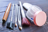 Cosmetic on a table — Stockfoto