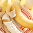 Milk with bananas — Stockfoto