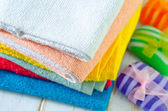 Towels and soap — Stock Photo