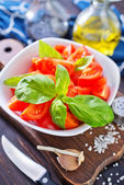 Salad with tomato — Stock Photo