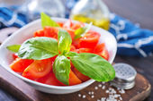 Salad with tomato — Stock fotografie