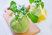 Cabbage kohlrabi — Foto Stock