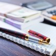 Stock Photo: Pen and note