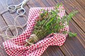 Thyme on a table — Stock Photo