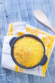 Corn porridge in a plate — Stockfoto