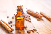 Aroma oil with cinnamon — Foto Stock