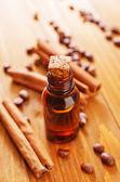 Aroma oil with cinnamon — Stock fotografie