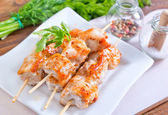 Brochettes de poulet — Photo