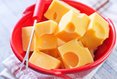 Cheese in a bowl — Stockfoto