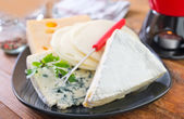 Cheese in a plate — Stockfoto