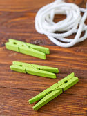 Rope and clothespin — Stock Photo