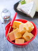 Cheese in a bowl — Stock Photo