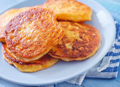 Pancakes cheese — Stock Photo