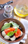 Caprese in a bowl — Stock Photo