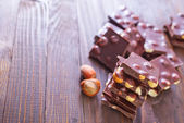 Chocolate on a table — Stock Photo