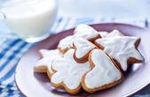 Cookies with milk — Stock Photo