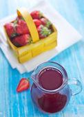 Jugo de fresa — Foto de Stock