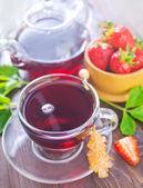Strawberry tea — Stock Photo