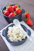Cottage with strawberry — Stock Photo