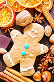 Cookie and aroma spice — Stock Photo