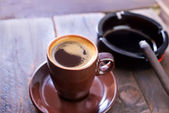 Coffee and sigarette — Stockfoto