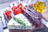 Cheese and sausage — Stock Photo
