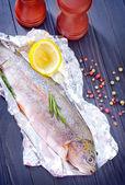 Peixe cru — Foto Stock