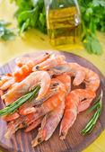 Shrimps on board — Stock Photo