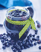 Blueberry jam — Stock Photo