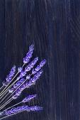 Lavender on wood — Stock Photo