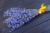 Lavender on wood — Stock Photo
