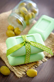 Olive soap — Stock Photo