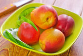 Fresh nectarines — Photo