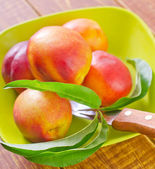 Fresh nectarines — Foto Stock