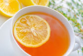 Tea with lemon — Stock Photo