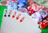 Cards for poker — Stock Photo