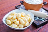 Gnocchi in bowl — Stock Photo