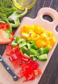 Cutted pepper — Stock Photo