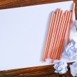 Paper with pencils — Stock Photo #50637505