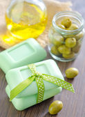 Olive soap — Stock Photo