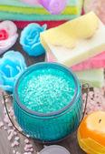 Savons et sel de couleur — Photo
