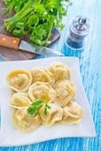 Pelmeni on plate — Stock Photo