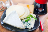 Cheese on plate — Stock Photo